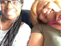 Kenya and Mom jet off toward the big city.